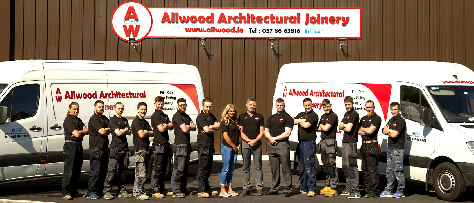 Allwood Architectural Joinery Margaret Connor Gerry Group Image